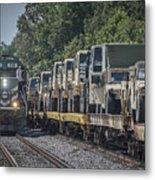 Pal Military Train Roll-by Metal Print