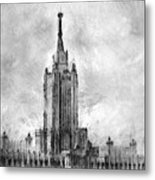 Palace Of Culture And Science Metal Print