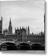 Palace Of Westminster And Elizabeth Tower Metal Print