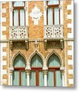 Palace On Grand Canal In Venice Metal Print