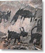 Palatki Pictoglyph Metal Print