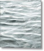 Pale Aqua Water Ripples Metal Print