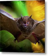 Pale Spear-nosed Bat In The Amazon Jungle Metal Print