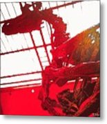 Paleo Figther Metal Print