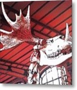 Paleo Wood Metal Print
