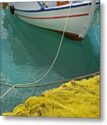 Paleohora Fishing Boat Metal Print