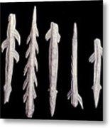 Paleolithic Harpoons Metal Print