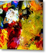 Palette Abstract Square Metal Print
