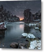 Palisades First Snow Metal Print