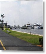 Palm Beach Marina Metal Print