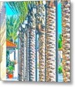 Palm Columns Metal Print