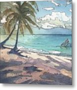 Palm Cove Metal Print