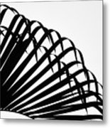 Palm Frond Black And White Metal Print