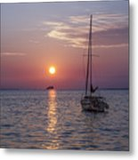 Palm Harbor Florida At Sunset Metal Print