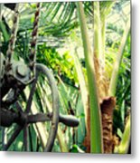 Palm House Pulley Metal Print