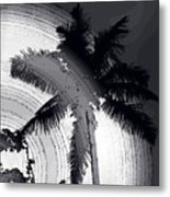 Palm In Grey Metal Print