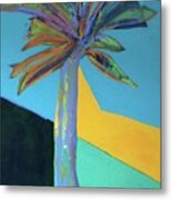 Palm In September, 2016. 24x18, Acrlyic On Canvas. Metal Print