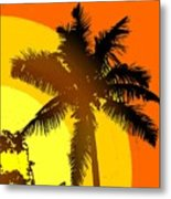 Palm On The Half Shell Metal Print