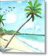 Palm Over Diani Beach Metal Print