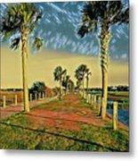 Palm Parkway Metal Print
