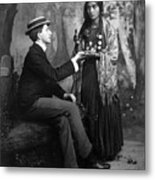 Palm-reading, C1910 Metal Print
