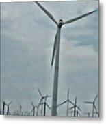 Palm Springs Windmills Metal Print