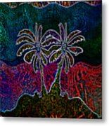 Palm Tree Abstraction Metal Print