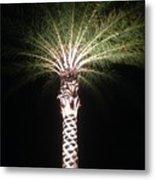 Palm Tree At Night Metal Print