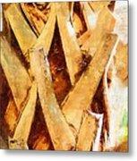 Palm Tree Bark Metal Print