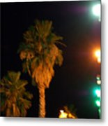 Palm Tree Glow Metal Print