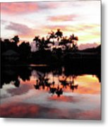Palm Tree Inlet 2 Metal Print