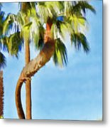 Palm Tree Needs A Chiropractor Painterly I Metal Print