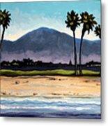 Palm Tree Oasis Metal Print
