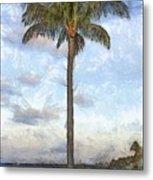 Palm Tree Pencil Metal Print