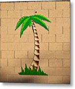Palm Tree Sign Metal Print