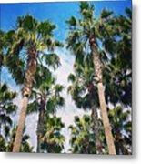 #palm #trees Just Make Me #smile Metal Print