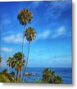 Palm Trees On The Pacific Metal Print