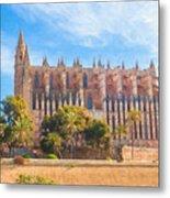 Palma Cathedral D40180 Metal Print