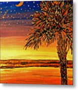 Palmetto Sunset  Metal Print
