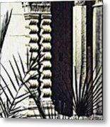 Palms And Columns Metal Print