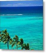 Palms And Ocean Metal Print