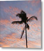 Palms And Pink Clouds Metal Print