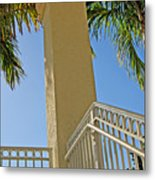 Palms And Stairs Metal Print