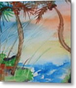 Palms At Sunset  Metal Print