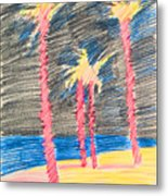 Palms At The Night Metal Print