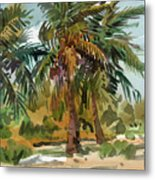 Palms In Key West Metal Print