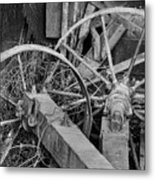 Palouse Farm Wheels 3156 Metal Print