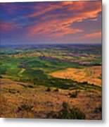 Palouse Skies Ablaze Metal Print