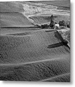 Palouse - Washington - Farms - 6 - Bw Metal Print