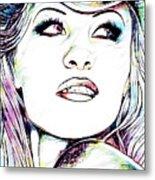 Pamela  Anderson Portrait Metal Print